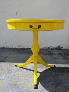 Vintage Modern Yellow End Table   Los Angeles by housecandyla, $250.00