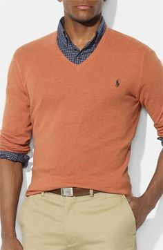 Polo Ralph Lauren V-Neck Cotton & Cashmere Sweater | Nordstrom