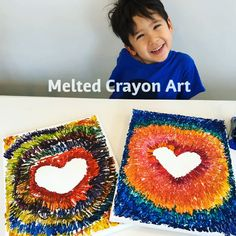 Melted Crayon Art for ages ⋆ Raising Dragons The Crayola Crayon Melter makes creating amazing melted crayon art soooo easy! Thanks to Crayola for sending us this crayon melter to try. Crayons Fondus, Crayola Crayon Melter, Crayon Art, Melting Crayons, Fun Activities For Kids, Diy Crafts For Kids, Projects For Kids, Fun Crafts, Art Projects