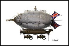 Airships Steampunk Project by Keith Donald, via Behance