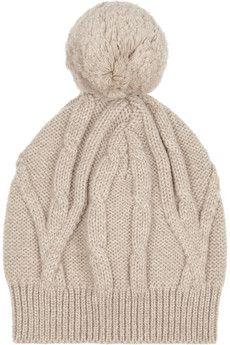 48e5c40b96d Aran-knit merino wool beanie