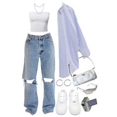 Baddie Outfits Casual, Cute Swag Outfits, Cute Comfy Outfits, Simple Outfits, Stylish Outfits, Tomboy Fashion, Teen Fashion Outfits, Mode Outfits, Retro Outfits