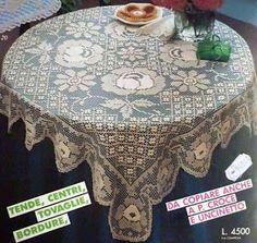 Kira scheme crochet: Scheme crochet no. Crochet Chart, Crochet Motif, Crochet Designs, Crochet Doilies, Crochet Lace, Free Crochet, Doily Patterns, Crochet Patterns, Crochet Numbers