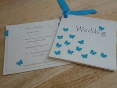 Daisy Blue. Wedding stationery. Day invitations £1.50  www.facebook.com/designedwithlove2012