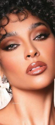 Natural Makeup Look Tutorial, Makeup Looks Tutorial, Natural Makeup Looks, Black Girl Makeup, Girls Makeup, Pretty Nose, Gal Gadot Wonder Woman, Dark Skin Beauty, Model Face