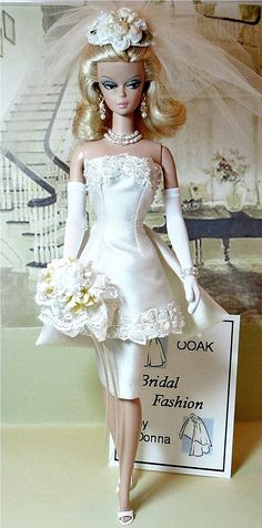 Bridal Boutique & Here comes the Bride! Barbie has a civil ceremony. Doesn't this doll remind you of Samantha Stevens on Bewitched? Follow RUSHWORLD! We're on the hunt for everything you'll love! #CollectibleDolls #Dolls #ArtDolls