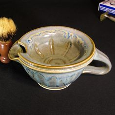 shaving mug shaving bowl green scuttle shaving scuttle shaving shave scuttle shave bowl lather bowl shaving scuttles shave mug shaving mugs lather scuttle gift for dad  ♦A shaving scuttle is a double-walled bowl for making and heating shaving lather. Scuttles are becoming very popular and many consider it an indispensable tool for wet shaving. It offers the most comfortable old-fashioned, straight razor, close shave imaginable. It makes your morning routine not so routine!  A shaving scuttle…