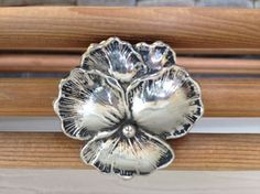 Lovely Silver metal Pansy Shoe clip 2 X 2 by Threadbender64,