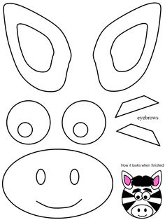Crafts,Actvities and Worksheets for Preschool,Toddler and Kindergarten.Lots of worksheets and coloring pages. Kindergarten Crafts, Preschool Crafts, Toddler Arts And Crafts, Crafts For Kids, Zebra Kids, Zoo Animal Crafts, Paper Plate Animals, Animal Templates, Kids Around The World