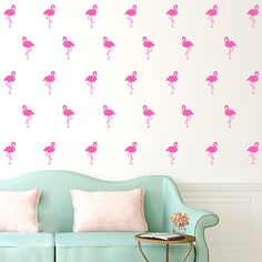 45 Pcs /set Nordic Style Wall Stickers Flamingo Furniture Stickers Children's Room Decoration >>> Want to know more, click on the image. #HomeDecor