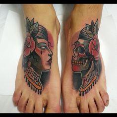 Empeines, gracias Nando. Tatuados en @customizarte Madrid, hecho con @revolutionneedles #tattoocollective #tattooworkers #tattooawesomeness #topclasstattooing #ntgallery #neotradsub #newtraditionalgallery