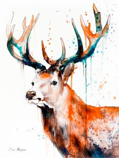 STAGS Art Print by Slaveika Aladjova