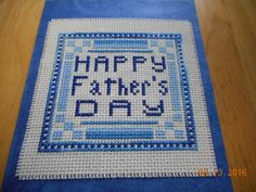 cross stitch Father's Day card available in etsy shop DebbyWebbysCards