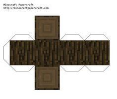 Papercraft Dark Oak Log Minecraft Wall, Minecraft Blocks, Minecraft Pixel Art, Minecraft Crafts, Minecraft Party, 3d Paper Crafts, Paper Toys, Papercraft Minecraft Skin, Minecraft Templates