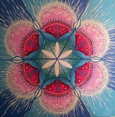 Dance of Light Mandala - Print, signed by artist: Zoharit Rubin, Healing Mandala op Etsy, 11,37 €