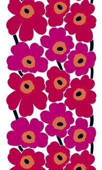 Unikko �r ett h�rligt, klassiskt och mycket popul�rt 60-talsm�nster med r�da blommor fr�n Marimekko som �terigen �r helt r�tt!