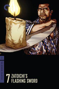 1964 Zatoichi's Flashing Sword (Zatoichi: The Blind Swordsman 7) 座頭市あばれ凧 [The Criterion Collection] cover illustration: Ricardo Venâncio #film #illustration