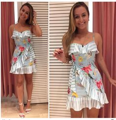 Online shopping for Floral Ruffle Trim Slip Dress from a great selection of women's fashion clothing & more at MakeMeChic. Sexy Dresses, Cute Dresses, Dress Outfits, Casual Dresses, Short Dresses, Dress Up, Cute Outfits, Fashion Outfits, Summer Dresses