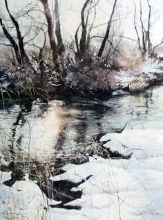 Deb Walker, Winter, trees, water, reflections, icy, snow, beauty of Nature, photo