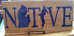 NATIVE Michigan Sign on Pallet Wood, any color available! www.facebook.com/MICardinalCrafts