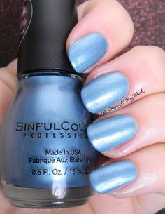 Sinful Colors Blue Sensation | Be Happy And Buy Polish http://behappyandbuypolish.com/2015/08/06/sinful-colors-a-class-act-nail-polishes-partial-collection/