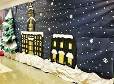 Our grade team does an annual Polar Express themed party, and they make an awesome train that goes down one side of the hallway. I real. Polar Express Party, Polar Express Christmas Party, Ward Christmas Party, Polar Express Train, Office Christmas Party, Christmas Program, Christmas Concert, Polar Express Conductor, Christmas Classroom Door