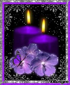 purple candles - Google Search