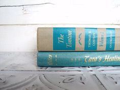 Aqua Blue & Tan Instant Library Collection