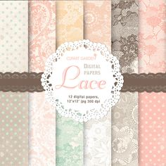 Lace digital papers pack
