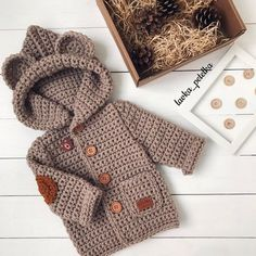 Irresistible Crochet a Doll Ideas. Radiant Crochet a Doll Ideas. Crochet Baby Jacket, Crochet Baby Sweaters, Crochet Baby Cocoon, Crochet Coat, Crochet Baby Clothes, Crochet Dolls, Crochet Cardigan, Crochet For Boys, Knitting For Kids