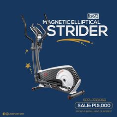 The Magnetic Elliptical Strider is perfect for anyone who wants all the benefits from running but is safer on the knees. Exercise Bike Reviews, Striders, Health Fitness, Running, Workout, Keep Running, Work Out, Why I Run, Fitness