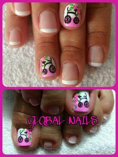 Manicure Y Pedicure, Nail Art, Nails, Beauty, Gorgeous Nails, Giraffe Nails, Kawaii Nails, Short Nails, Polish Nails