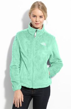 The North Face 'Osito' Fleece Jacket. This color or light would be sooo cute