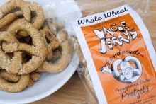 For a truly unique snack food, we created this 100% whole wheat flour pretzel.  The Whole Wheat variety, with its tan finish, is popular with natural food consumers. Available in salted and low salt and, for just a slight nutty flavor, sesame low salt. http://www.unclejerryspretzels.com/whole-wheat-pretzels-1/