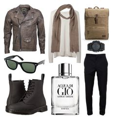 """Men wear"" by a-fleur on Polyvore featuring mode, Ray-Ban, 6397, Dr. Martens, VIPARO, Giorgio Armani, Givenchy, UGG Australia en G-Shock"