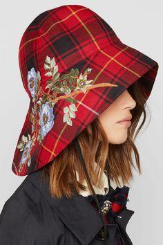 Tartan + embroidery + on your head = my next DIY