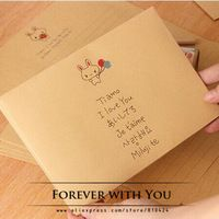 "Free shiipping ""i love you"" envelope for wedding gift packaging envelopes vintage airmail envelopes diy scrapbooking 17.5*12.5cm"