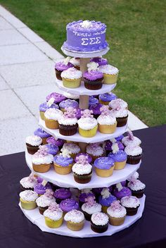 Cupcake tower... you know the drill- but in our lovely rose and white!
