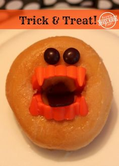 Trick and a Treat!  Monster Donut.
