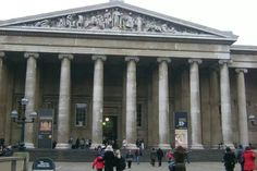 L entrata del magnifico British Museum!!! Una meraviglia questo museo!!