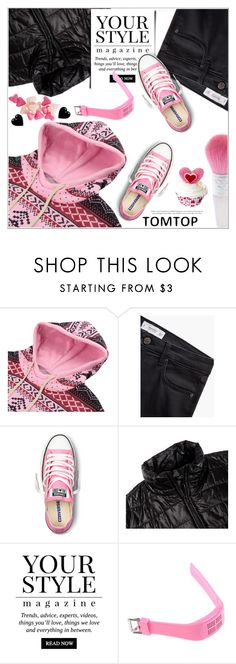 """""""TOMTOP+ 25"""" by deeyanago ❤ liked on Polyvore featuring мода, MANGO, Converse, Pussycat, women's clothing, women, female, woman, misses и juniors"""