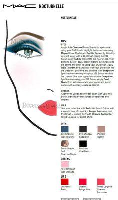MAC Nocturnelle Face Chart