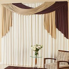 Curtains determine the general ambience of the house. In this article you will find great curtains ideas. We share with you the curtains in this photo gallery. Curtains Living, Curtains With Blinds, Tiny Living Rooms, Room Color Schemes, Curtain Designs, Stores, Diy Home Decor, Furniture, Decorative Curtains
