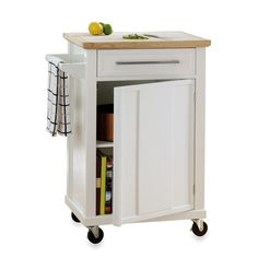 Real Simple® Rolling Kitchen Cart In White