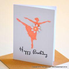 Ballerina Birthday Card|Kids Birthday Card|Ballerina Card|Cards for kids|Teen Girl Card|Female Birthday Cards|Cards for Her|Ballerina|KIDS15 - pinned by pin4etsy.com
