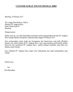 Format Surat Resign Resmi Altin Northeastfitness Co
