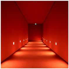 These hallway lights Rainbow Aesthetic, Orange Aesthetic, Aesthetic Colors, Fred Instagram, Red Color, Orange Color, Red Rooms, Interior Exterior, Shades Of Red