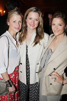 Mamie, Grace & Louisa Gummer (Meryl Streep's Daughters).