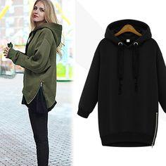 Women's Winter Warm Top Hoodie Coat Outerwear Hooded Jacket Size S-L 2 Color Hot