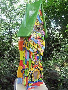 Vogelvilla Vogelhaus Nistkasten Hundertwasser - Stil Dekoration in Garten & Terrasse,Dekoration,Vogelhäuser | eBay